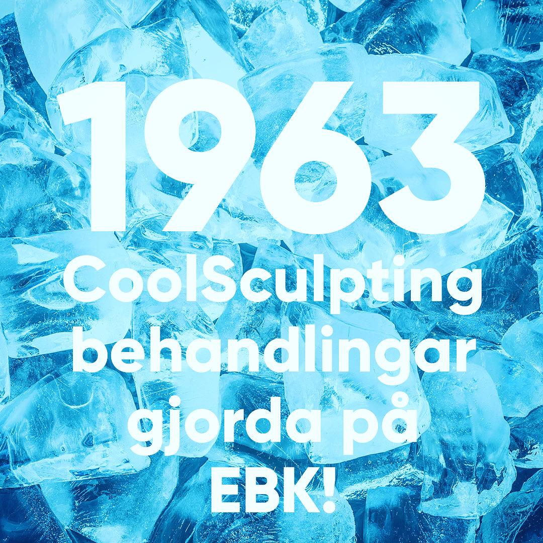 1963 utförda CoolSculpting behandlingar